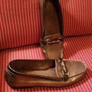 A2 by Aerosoles Women's metallic loafers, size 10